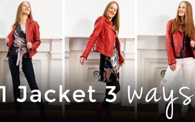 3 Ways to wear 1 jacket