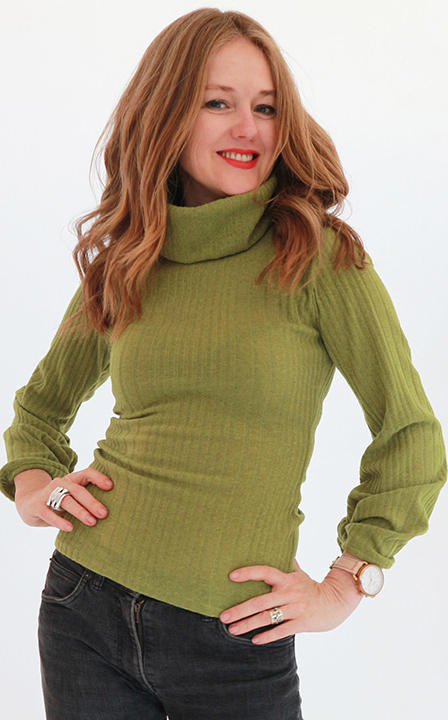 Tracy Gold collection chartreuse sweater
