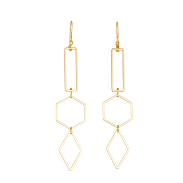 Tracy Gold Curated Illuminated Me Geometric Earrings