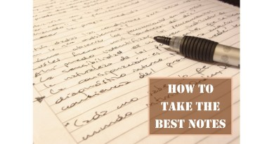 How to take and teach note taking