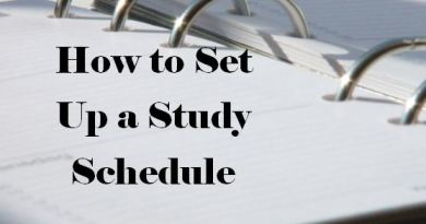 How to Set Up a Study Schedule