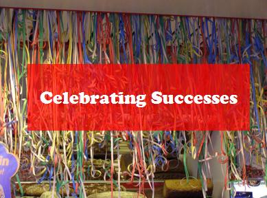 celebrating success