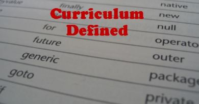 Curriculum Defined