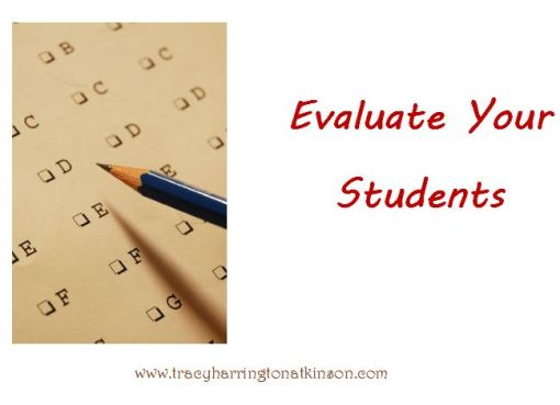 Evaluate your Students