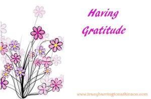 Having Gratitude
