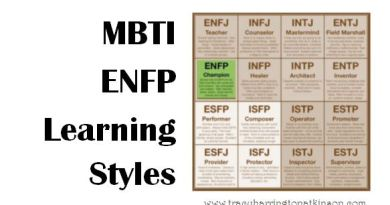 MBTI ENFP (Extraversion, Intuition, Feeling, Perceiving) Learning Styles
