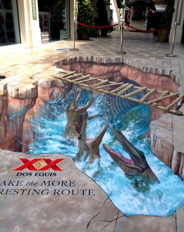 Dos Equis Brings 3d Street Painting Cocowalk