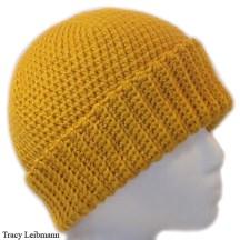 Cloche Beanie Hat, Golden