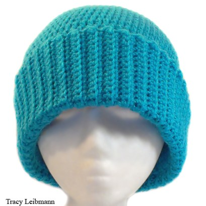 Cloche Beanie Hat, Turquoise