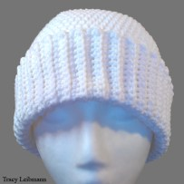 Cloche Beanie Hat, White