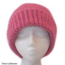 Cloche Beanie Hat, Raspberry