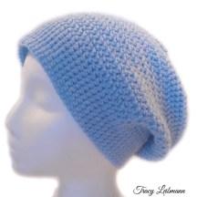 Slouchy Beanie Hat Sky Blue $28