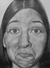 Self Portrait, Graphite on Paper, 18x24 in, 2012