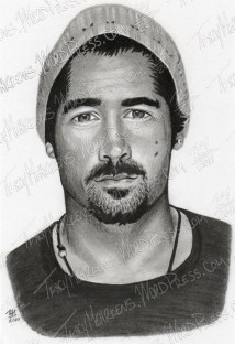 Colin Farrell, Graphite on Paper, 5.75x8.5 in, 2010