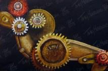 Gears, Pastel on Paper, 15x10 in, 2013