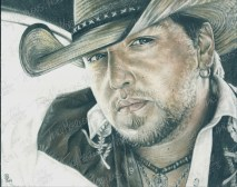 Jason Aldean, Graphite & Pastel on Paper, 10x8 in, 2014 - SOLD