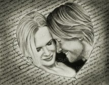 Keith & Nicole, Graphite on Paper, 14.25x11.25 in, 2012 ($100.00+ship.)