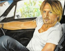 Keith Urban, Oil Paint on Canvas, 10x8 in, 2012 ($20.00+ship.)
