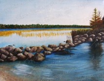Mississippi Headwaters, Oil Paint on Canvas, 23x18 in, 2013 - SOLD