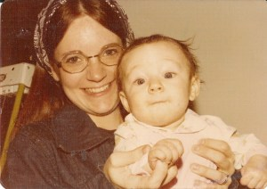 My mother and me hanging out, circa 1975