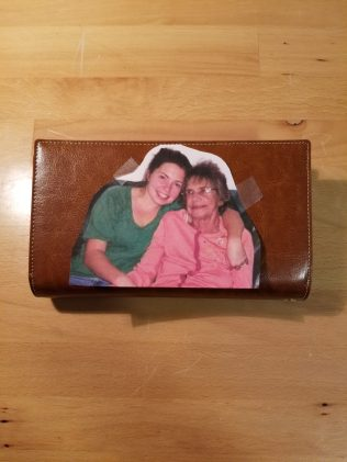 Image I was Working From on Back Side of First Wallet - Wrong Type of Leather