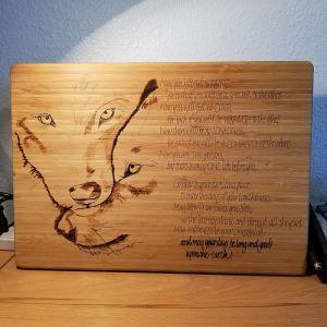 Lester and Traci - Cutting Board - in progress