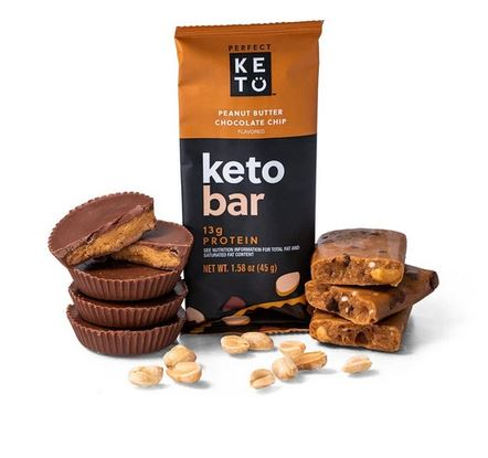 Peanut Butter Chocolate Chip Perfect Keto Bars