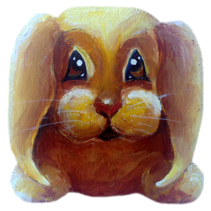Bonnie Bunny acrylic on wood $40