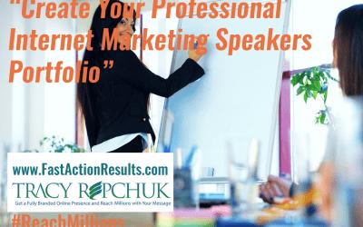 Create Your Professional Internet Marketing Speakers Portfolio