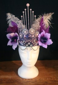 Purple pink skewer headdress