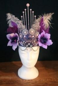 Purple pink skewer headdress