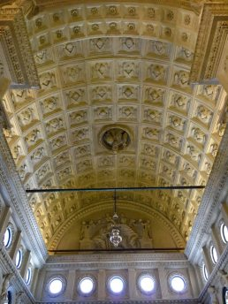 Ceiling in the chapel of the Cathedral of St Lawrence