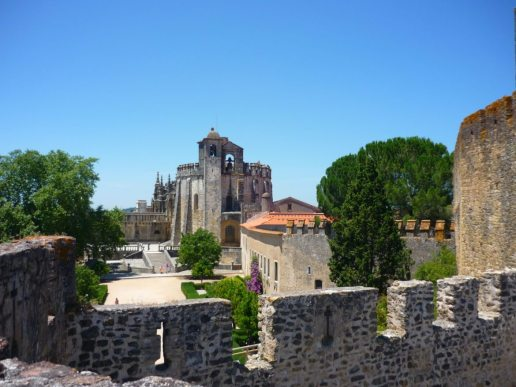 PORTUGAL convento-de-christo-tomar-view-of-round-church-from-fortifications