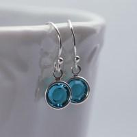 Dainty Birthstone or Pearl Earrings | Earrings