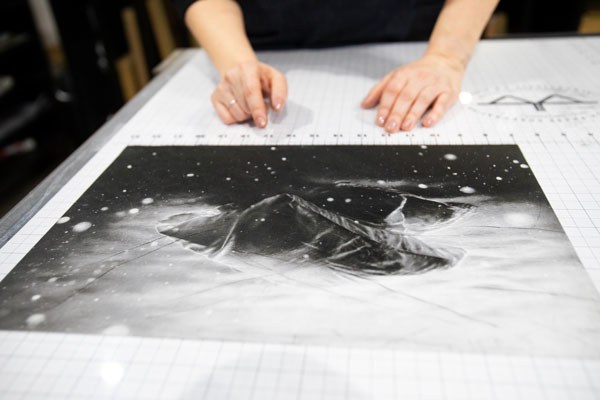 Tracy Templeton Measuring a Print