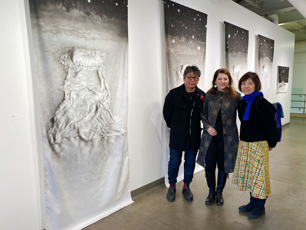 Tracy Templeton with Colleagues at Evanston Art Center