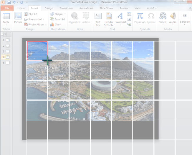 PowerPoint Grid and Image