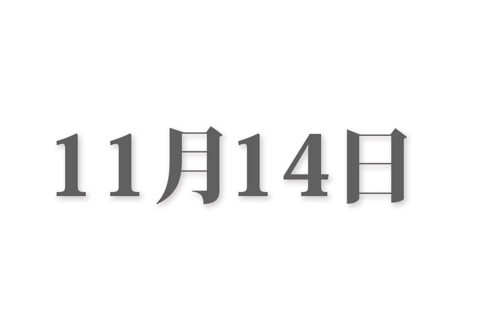 11月14日と言えば? 行事・出来事・記念日|今日の言葉・誕生花・石・星|総まとめ