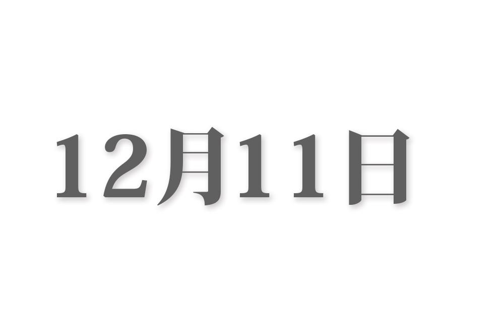12月11日と言えば? 行事・出来事・記念日|今日の言葉・誕生花・石・星|総まとめ