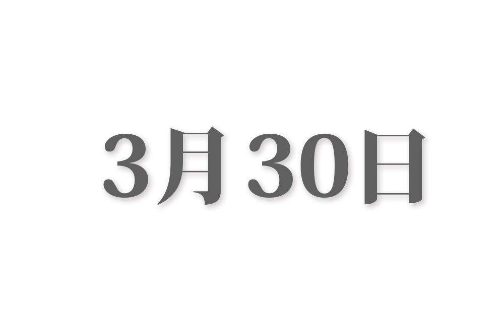 3月30日と言えば? 行事・出来事・記念日|今日の言葉・誕生花・石・星|総まとめ