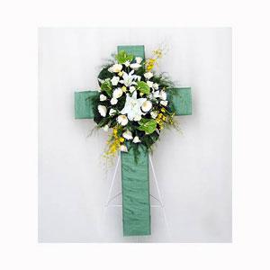 主內安息十字架-心願花坊有限公司-鮮花盆景-1111商搜網