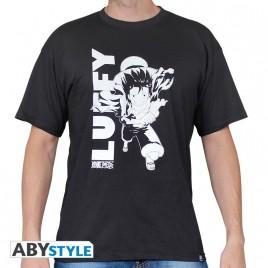 "ONE PIECE - Tshirt ""Rufy running"" uomo SS nero usato - 150gr"