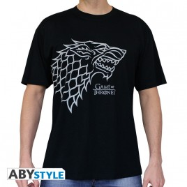 "GAME OF THRONES - Tshirt ""Stark"" uomo SS nero - basic"