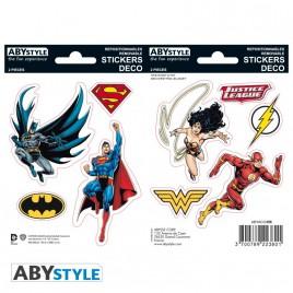 DC COMICS - Adesivi - 16x11cm / 2 piani - Justice League X5