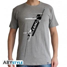 "STAR WARS - Tshirt ""X-Wing Resistance"" uomo SS sport grigio - basic"