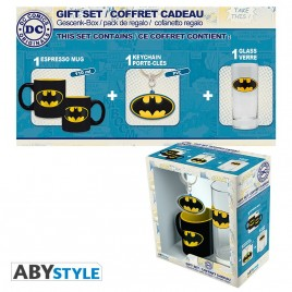 "DC COMICS - Pck Glass 29cl + KeyringPVC + Mini Mug ""Batman"""