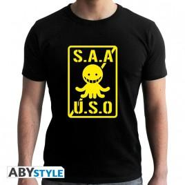 """CLASSE ASSASSINATION - Tshirt """"SAAUSO"""" uomo SS nero - nuova vestibilità"""