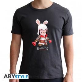 """RAVING RABBIDS - Tshirt """"Rabbids Creed"""" uomo SS grigio scuro - nuova vestibilità"""