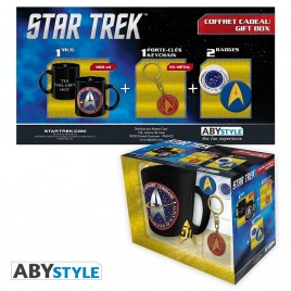 "STAR TREK - Tazza Pck + portachiavi + badge ""STARFLEET"""