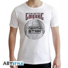 "STAR WARS - Tshirt ""Death Star"" uomo SS bianco - nuova vestibilità"